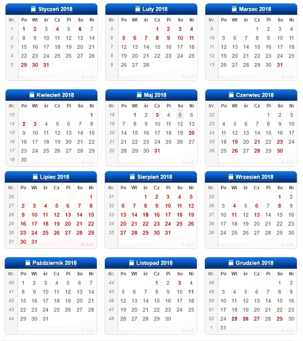 Kalendarz zajęć sportowych na basenie MOSiR Gdańsk Chełm i Politechniki Gdańskiej na 2018 rok