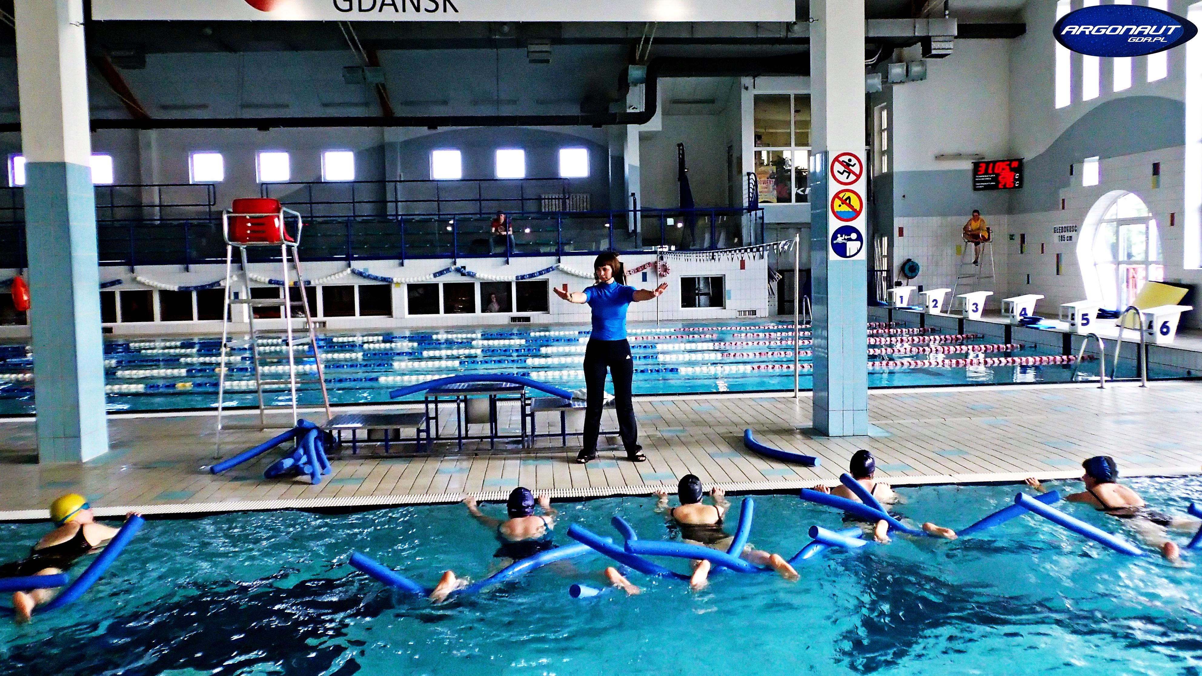 Aqua Aerobic na małym basenie MOSiR Gdańsk Chełm
