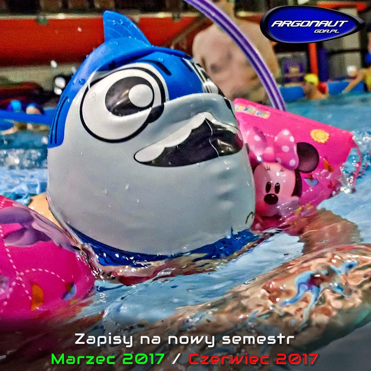 Informujemy, iż prowadzimy zapisy na nowy semestr Marzec 2017 / Czerwiec 2017 Zapraszamy na : Zajęcia fitness w wodzie – Aqua Aerobic w płytkim basenie i Hydro Fitness w głębokim basenie. Oferta pływacka – pływanie rekreacyjne (karnety na basen), nauka pływania od podstaw, doskonalenie i treningi pływackie dla dzieci, młodzieży i dorosłych. Lekcje i treningi pływania w triathlonie (zajęcia na pływalni krytej oraz treningi na wodach otwartych).. Oferta nurkowa – kursy nurkowania rekreacyjnego oraz technicznego. Lekcje i treningi Freedivingu (nurkowania na wstrzymanym oddechu). Kursy pierwszej pomocy i treningi ratownictwa. Informację jak zapisać się pierwszy raz na zajęcia znajdą Państwo tu …->