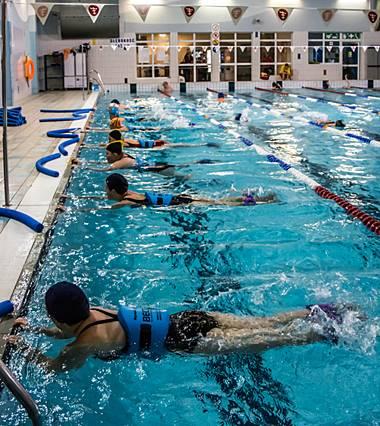 Harmonogram Hydro Fitnessu na dużym basenie MOSiR Gdańsk Chełm