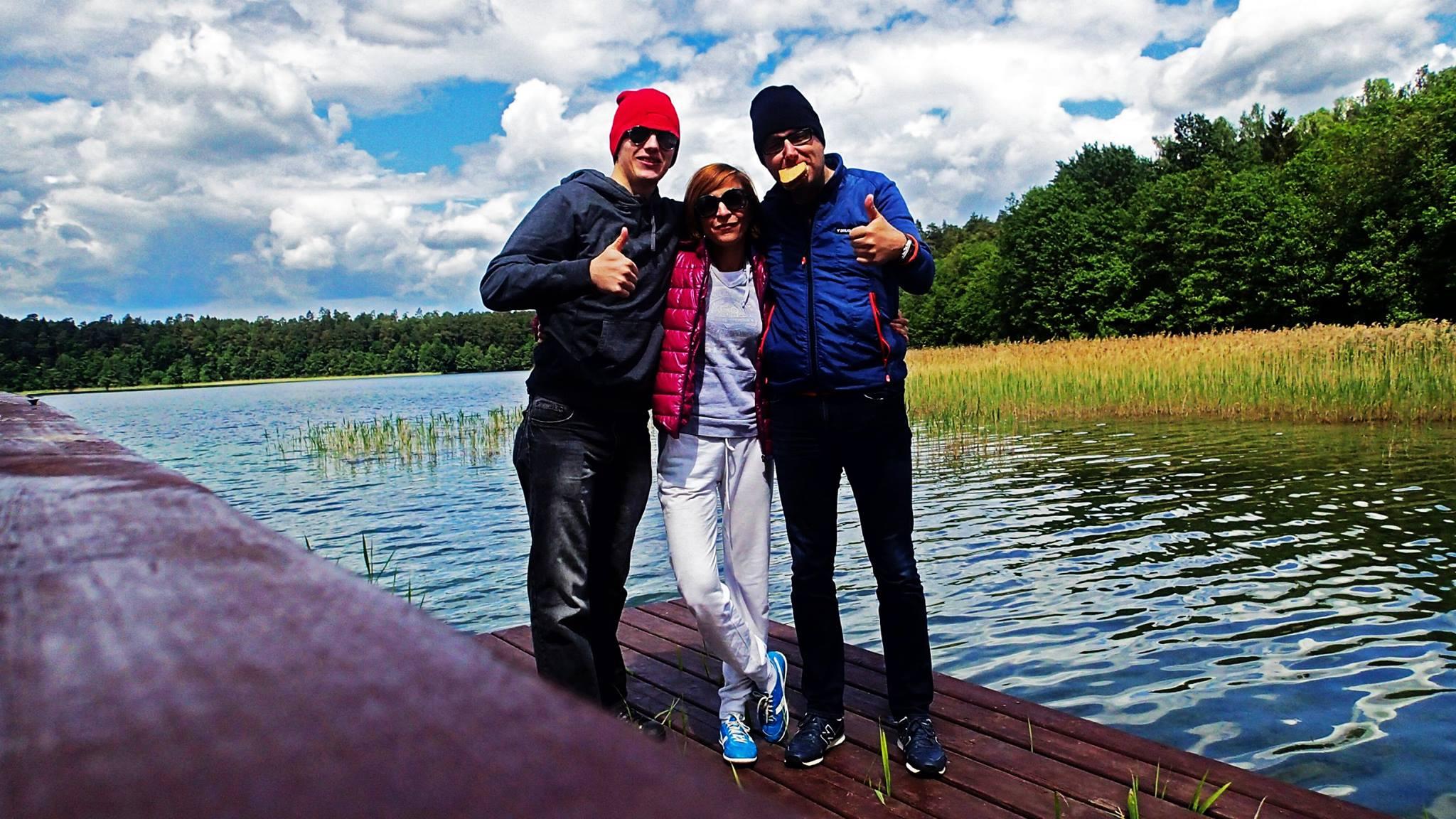 Przełamywanie strachu przed wodą i start w Triathlonie. Audycja w Radiu Gdańsk (27.07.2014r.) z udziałem Aldony i Marcina Dybuk oraz Dawid Dobroczka.