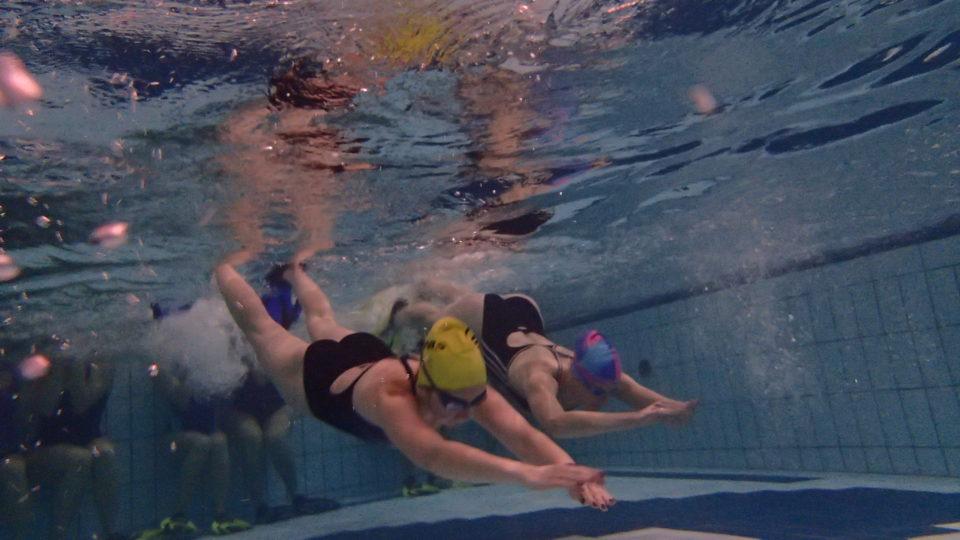 Podczas audycji opowiadamy o tym jak wyglądają przygotowania do startu w Triathlonie grupy pływackiej początkującej od podstaw pływania na małym basenie jak i grupy średnio zaawansowanej doskonalącej technikę pływania na dużym basenie.